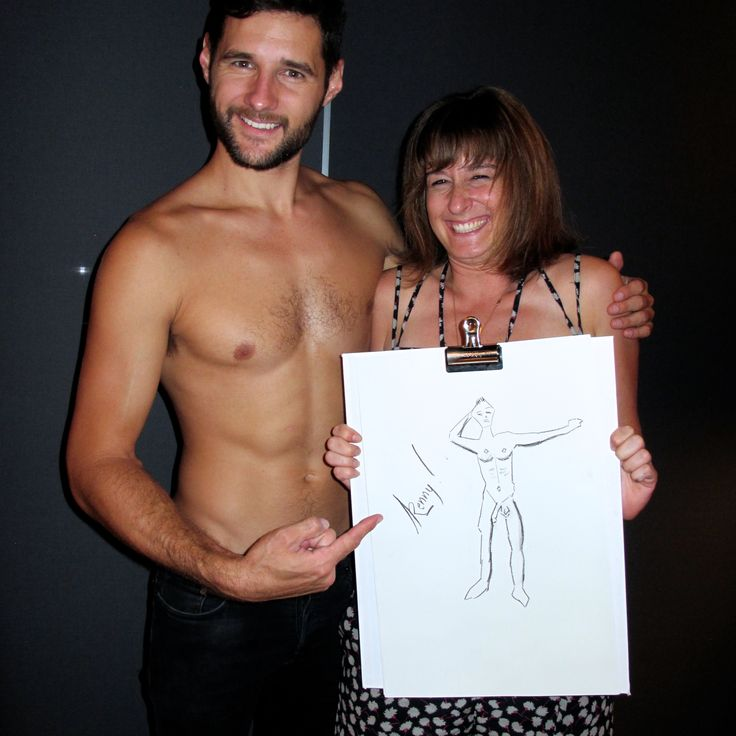 Drinks, drawing and your very own nude model! Best