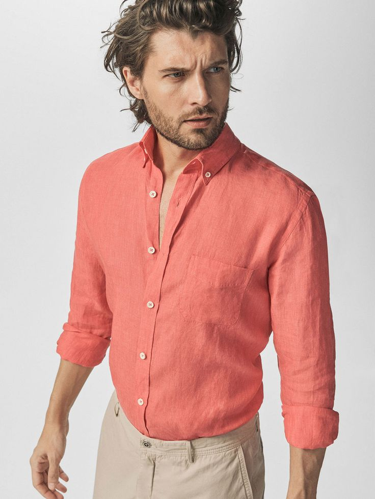 CAMISA LISA LINO CASUAL FIT de HOMBRE - Camisas Casual - Ver todo de Massimo Dutti de Primavera Verano 2017 por 39.95 - 49.95. ¡Elegancia natural!