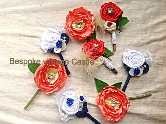 Bespoke Boutonnieres, lapel,groom,best man, Button holes, cabbage rose, handmade, choose you're co lour, men's item, boutoneers,