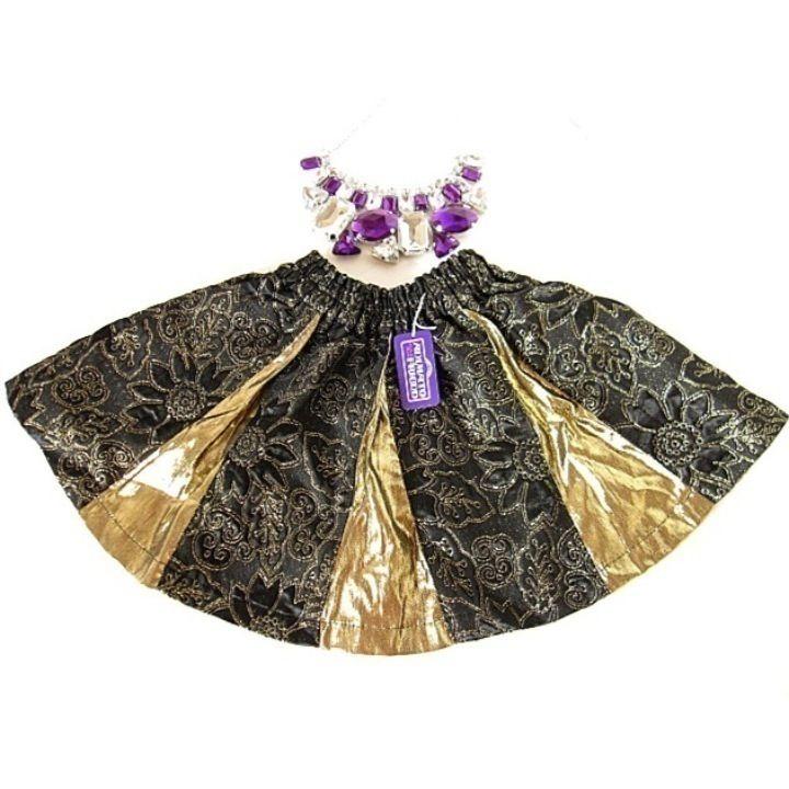 メルカリ商品: 新品110★ハロウィン衣装/お姫様スカート撮影イベント発表会/金色黒ゴールド #メルカリ