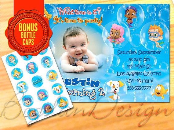 Bubble Guppies Invitation Bubble Guppies printable by BogdanDesign, $8.99