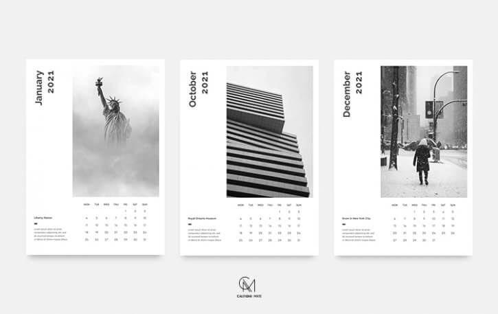 K Lian A Minimal Wall Calendar Template 2021 Psd In 2020 Calendar Template Calendar Design Template Wall Calendar Design