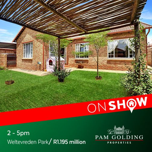 On Show Sunday 2 October from 2 - 5pm. Click for more information. #OnShow #ForSale #WeltevredenPark