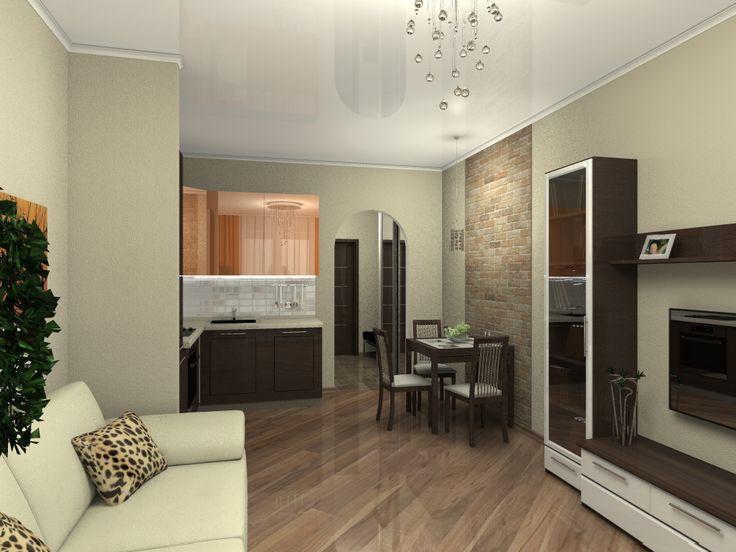 Дизайн квартиры студии 20 кв м
