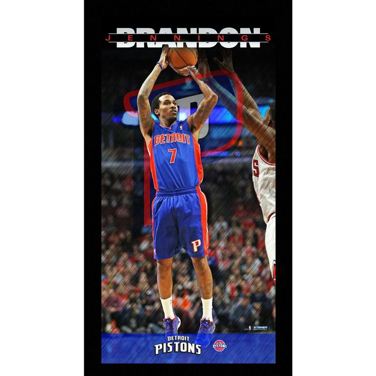 Brandon Jennings Detroit Pistons Player Profile Wall Art 9.5x19 Framed Photo
