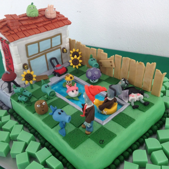 Plants vs Zombies Cake