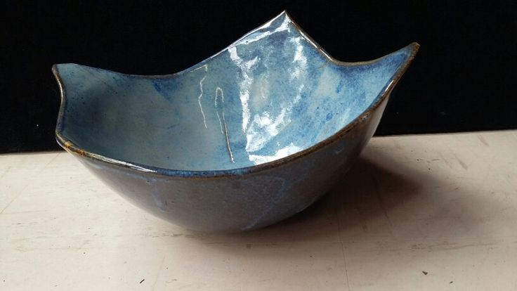 Floating Blue bowl by Vanessa September @earthplaystudio