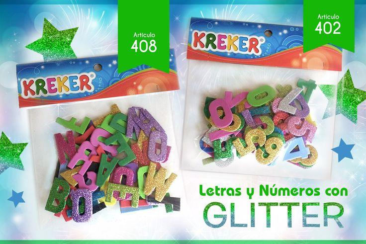 Letras y Númeos de Gomalina con GLITTER