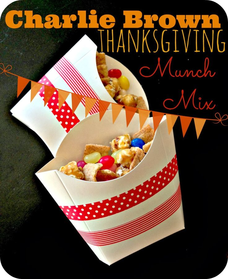 charlie brown thanksgiving snack mix - Google Search