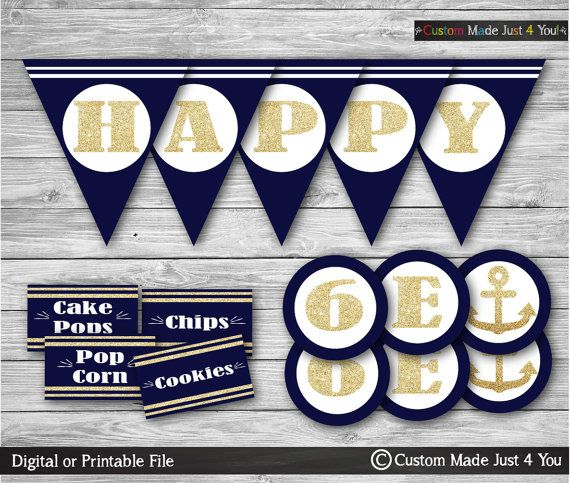 HAPPY BIRTHDAY BANNER Birthday Decorations by CustomMadeJust4You