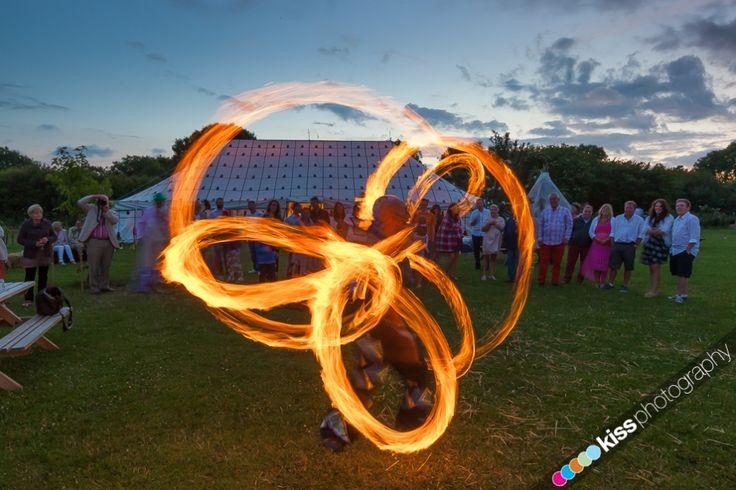 Fire Juggler at Cornish Tipi Weddings!