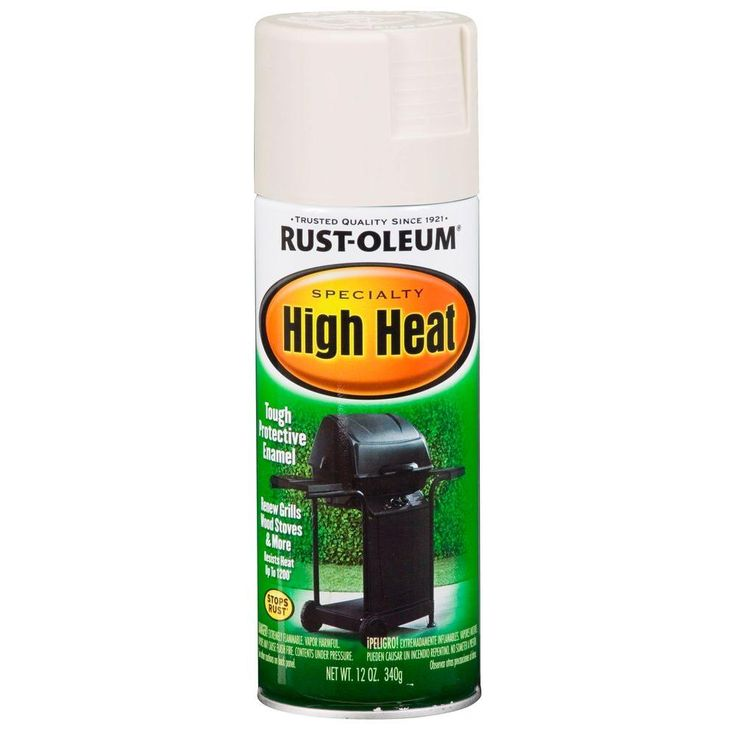 Rust-Oleum Specialty 12 oz. White High Heat Spray Paint-7751830 - The Home Depot