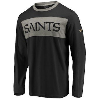 044d9f40f85 NFL Pro Line by Fanatics Branded New Orleans Saints Black Long Sleeve  Iconic T-Shirt