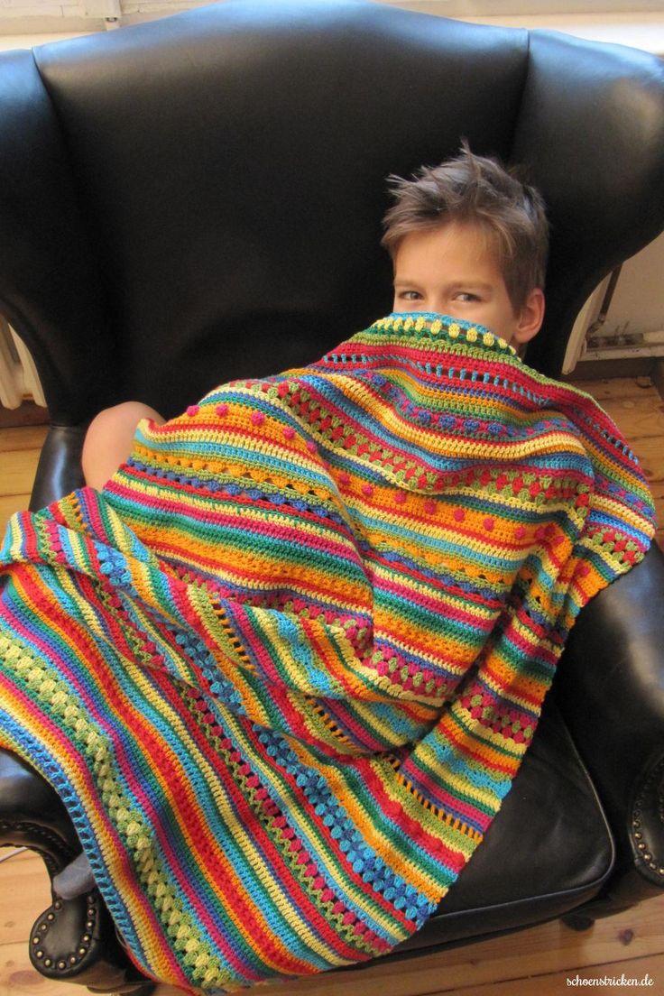Crochet Along Regenbogen Babydecke Teil 12