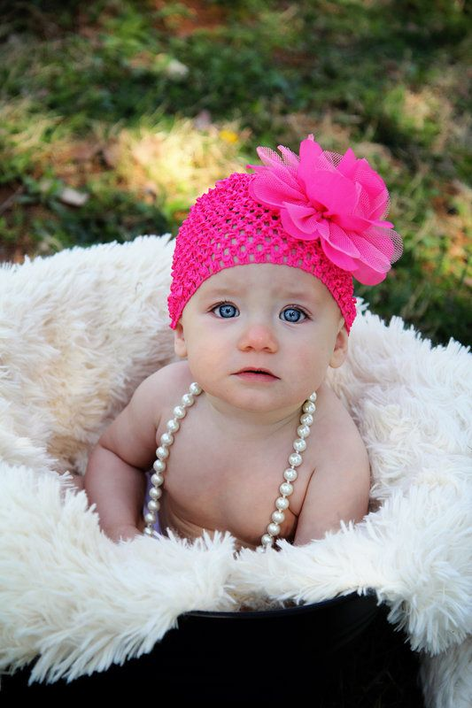 6 month old baby girl spring mini session photos by a