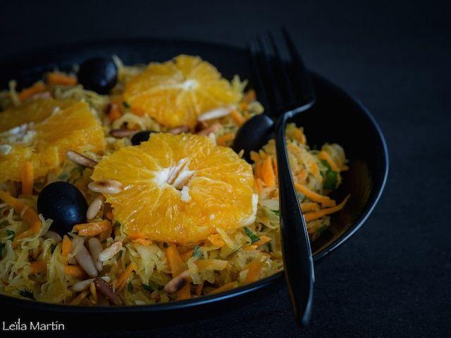 Salade de choucroute crue et carottes à l'orange