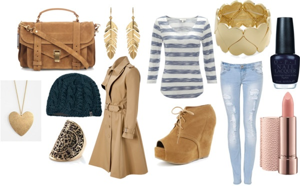 """brown winter"" by nicole-beal on Polyvore"
