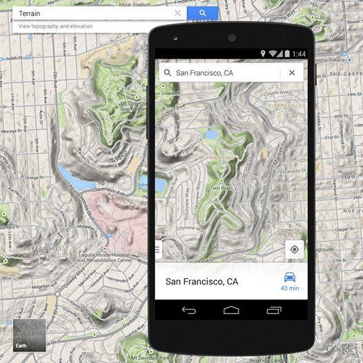 Najnowsza aktualizacja dla #Google #Maps pozwala przeglądać mapę w widoku rzeźby terenu na smartfonach z Androidem.   Google Maps Android.com.pl Who's up for a little king of the hill? Terrain view is now available with our latest #Android update.