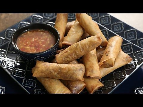 How to make Spring rolls - Chinese Starter Recipe -  The Bombay Chef – V...