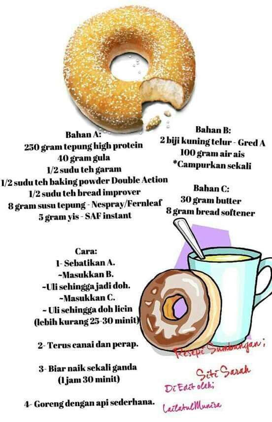 Resepi donut ala Big Apple