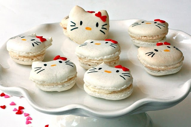 Hello Kitty Macaron Recipe! #food #recipe #cookie