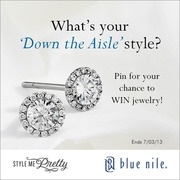 Blue Nile and Style Me Pretty - Pin for your chance to WIN jewelry! Click here for all the details!  http://sweeps.piqora.com/bluenile