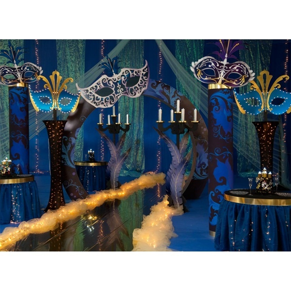 Masquerade Ball Prom Decorations: Mysterious Charade Arch Kit