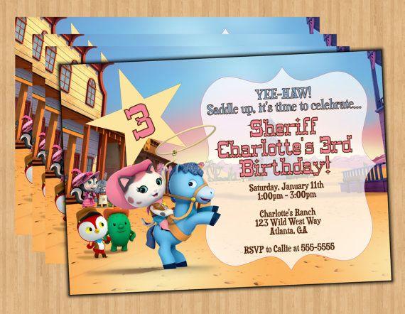 Sheriff Callie Digital Birthday Party Invitation By Preciouspixel 500
