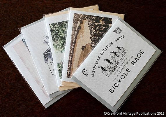 A bundle of 5 vintage inspired gift cards blank by CVPublications, $19.95