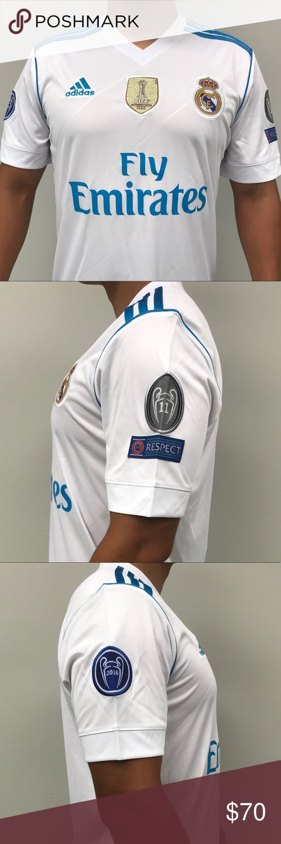 Real Madrid Home Jersey Cristiano Ronaldo #7 EU size (M) 2017-18 adidas Shirts