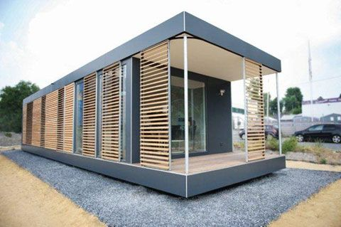 neues wohnen im cubig designhaus minihaus houses micro houses pinterest minihaus. Black Bedroom Furniture Sets. Home Design Ideas