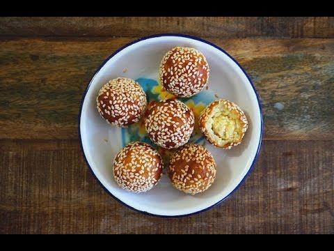 Seasaltwithfood: Sweet Potato Balls Filled With Mung Bean Paste