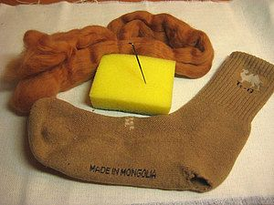 Штопка шерстяного носка валянием. | Ярмарка Мастеров - ручная работа, handmade