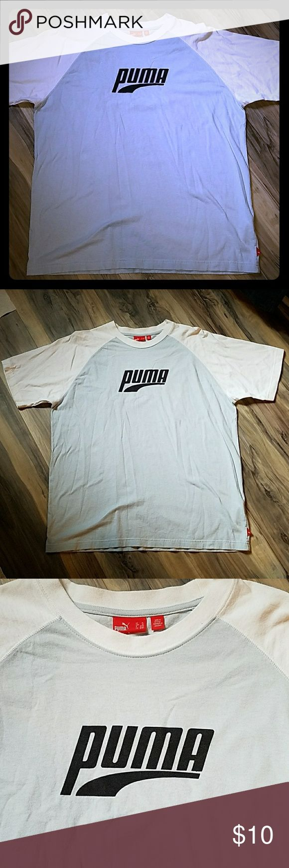Puma shirt Men's shirt. Baby blue and white. Only worn a few times. Puma Shirts Tees - Short Sleeve
