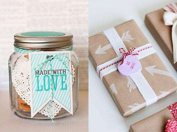 Подарки на День святого Валентина можно оформить своими руками