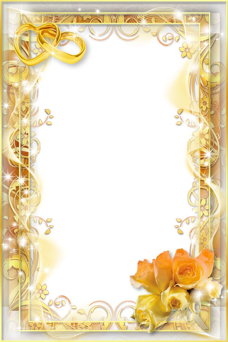 Yellow Wedding PNG Photo Frame