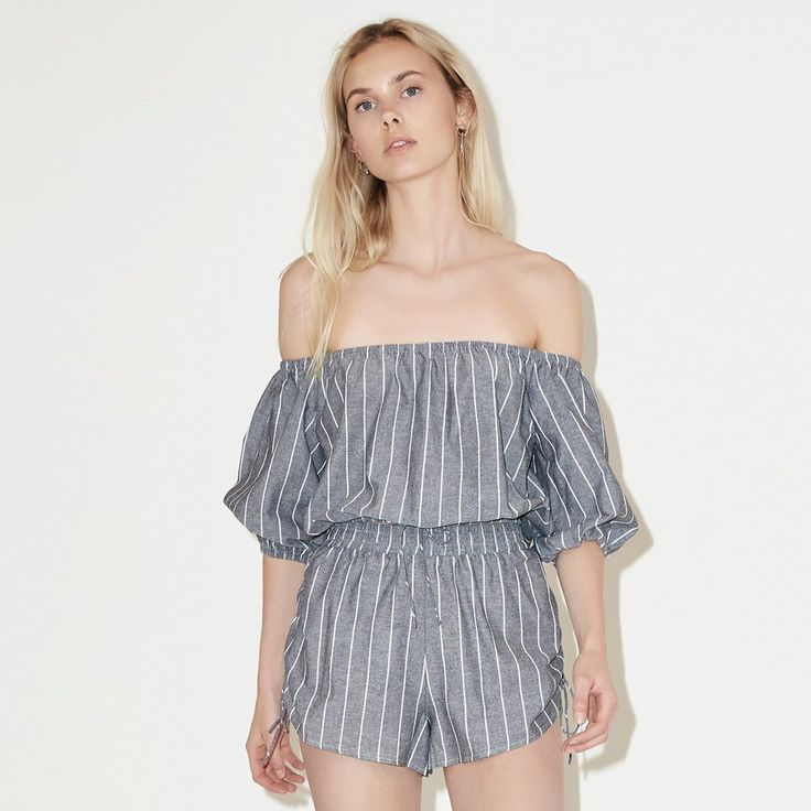 The Fifth Label - Cubic Stripe Top - White/Charcoal
