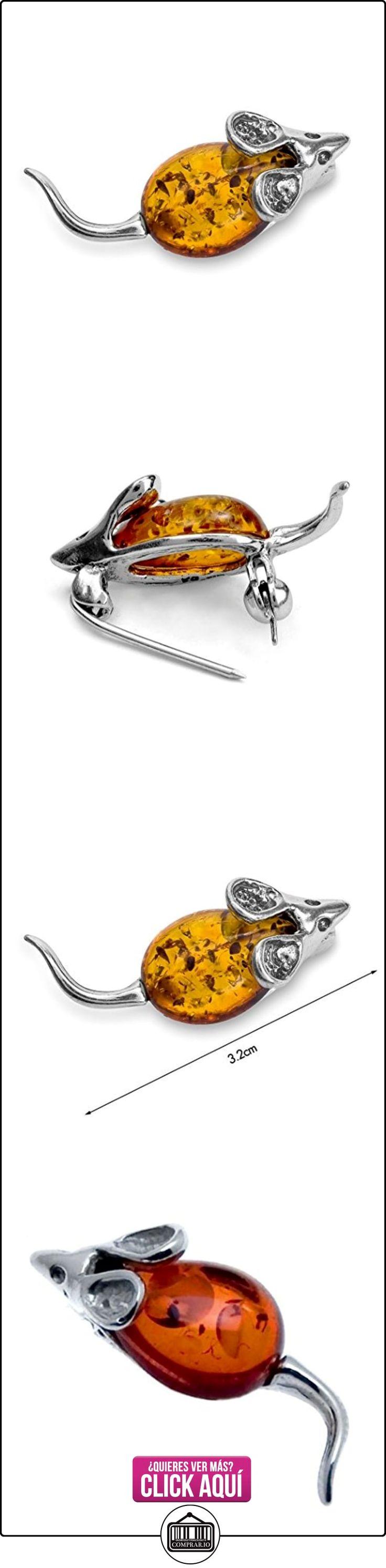 Noda - Alfilér ratón de ámbar báltico color miel y plata de ley  ✿ Joyas para mujer - Las mejores ofertas ✿ ▬► Ver oferta: http://comprar.io/goto/B0065HUV10