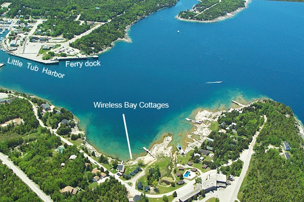 Wireless Bay Cottages Location