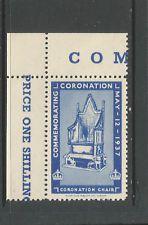 GB/UK 1937 GVI Coronation poster stamp/label (Coronation Chair)