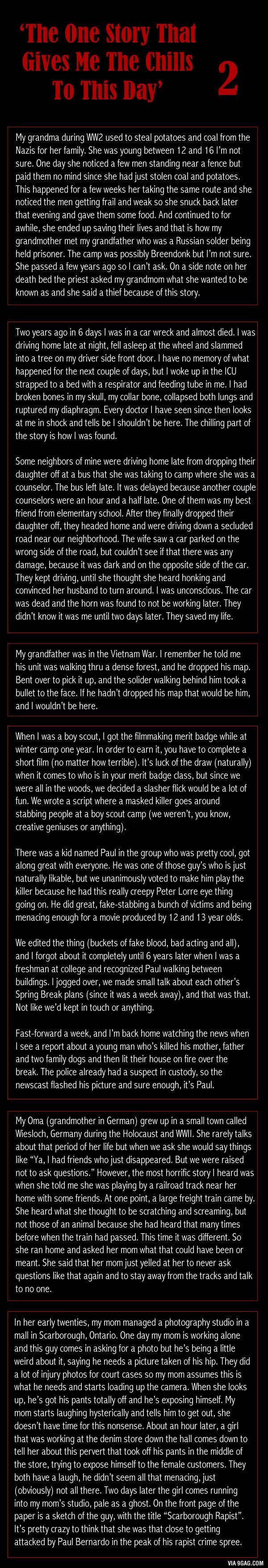 'The One Story That Gives Me The Chills To This Day' 2
