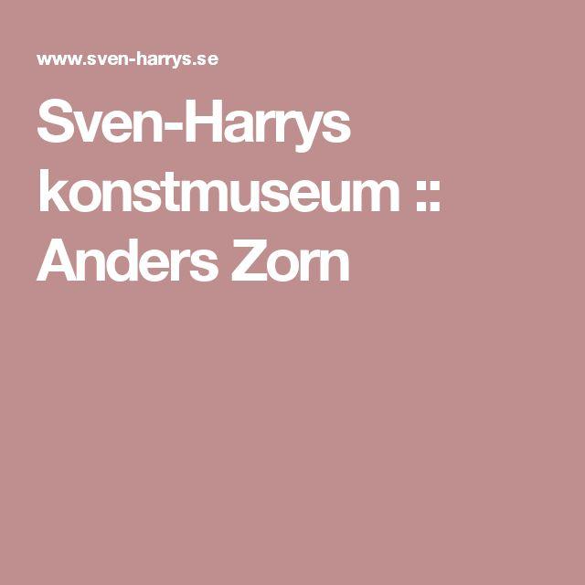 Sven-Harrys konstmuseum :: Anders Zorn Etsning, röd, rembrant, vatten. Carl Fredrik Reuterswärd - Non- Violence.
