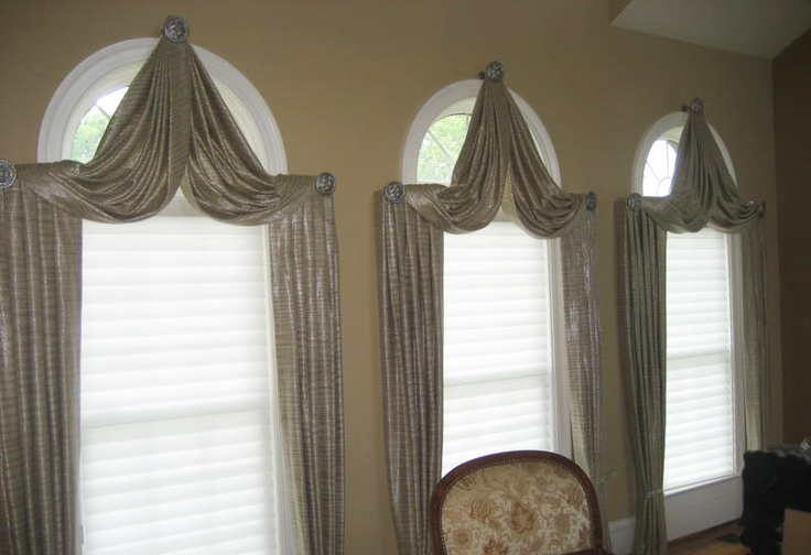 Arch window treatments window draperies curtains arch for Beautiful window treatments