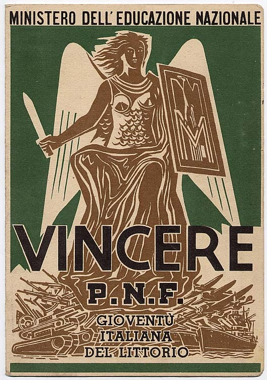Pagella 1914-15. Frontespizio. Collezione Dino Davanzo.