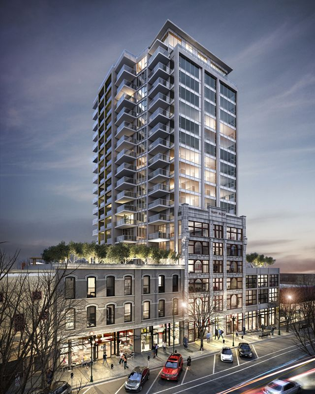 Trapp + Holbrook by the Salient Group in New West. Modern living meets historic charm!
