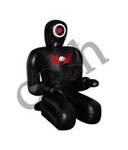 MMA Grappling Dummy, Submission Style All Black Synthetic Leather Dummies, COSH INTL Quality Punch Bag, Du-7589