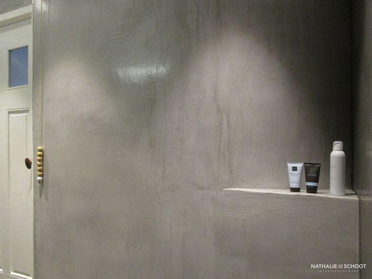 Tegels Badkamer Afkitten ~ Badkamer in VERBAU betonstuc Kleuren #01 128 steenkool en #05 donker