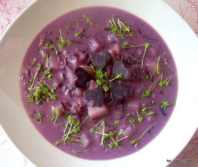 Smaczna Pyza sprawdzone przepisy kulinarne: Zupa ziemniaczano sojowa z purpurową marchwią