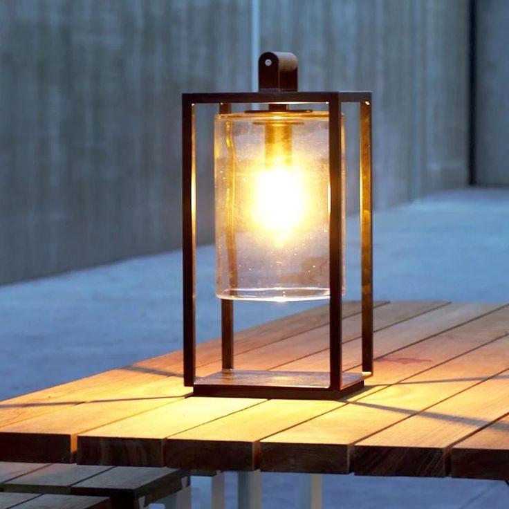 Modern Glass Dome Outdoor Lantern