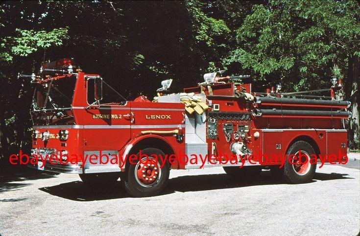 Fire Apparatus Slide, Engine 2, Lenox / MA, 1981 Ward LaFrance
